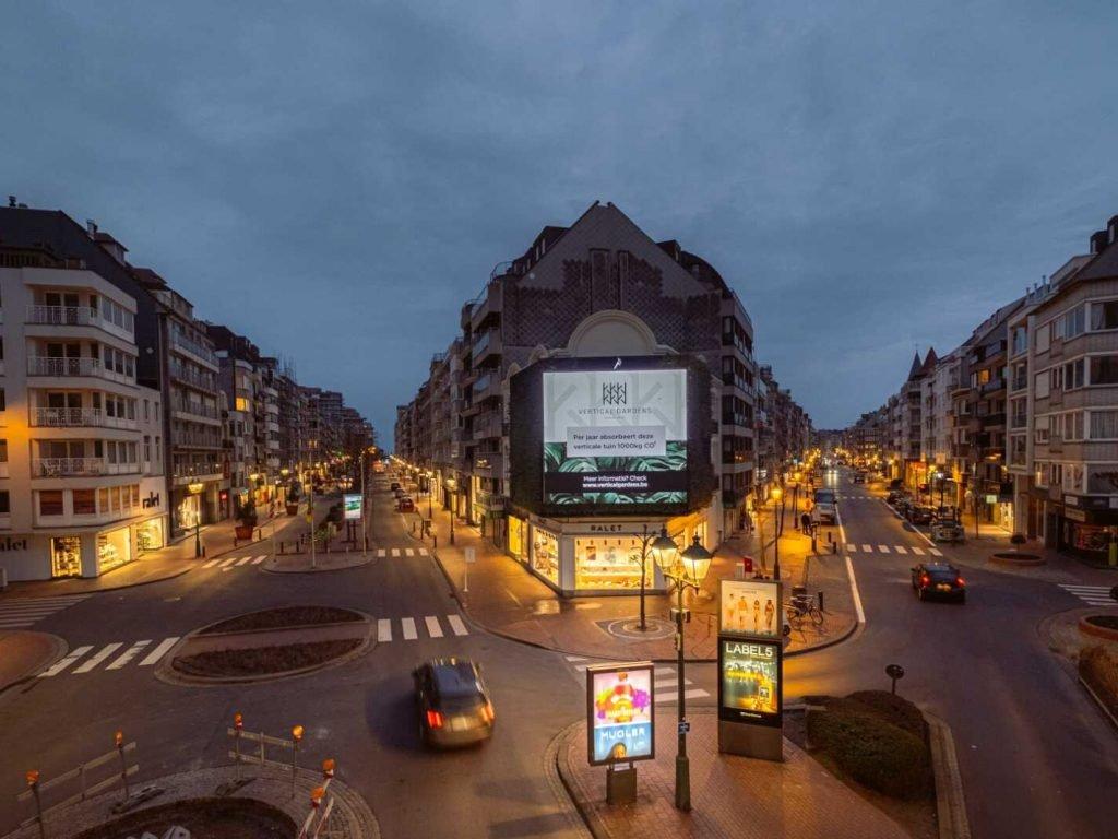 Groene wand Knokke